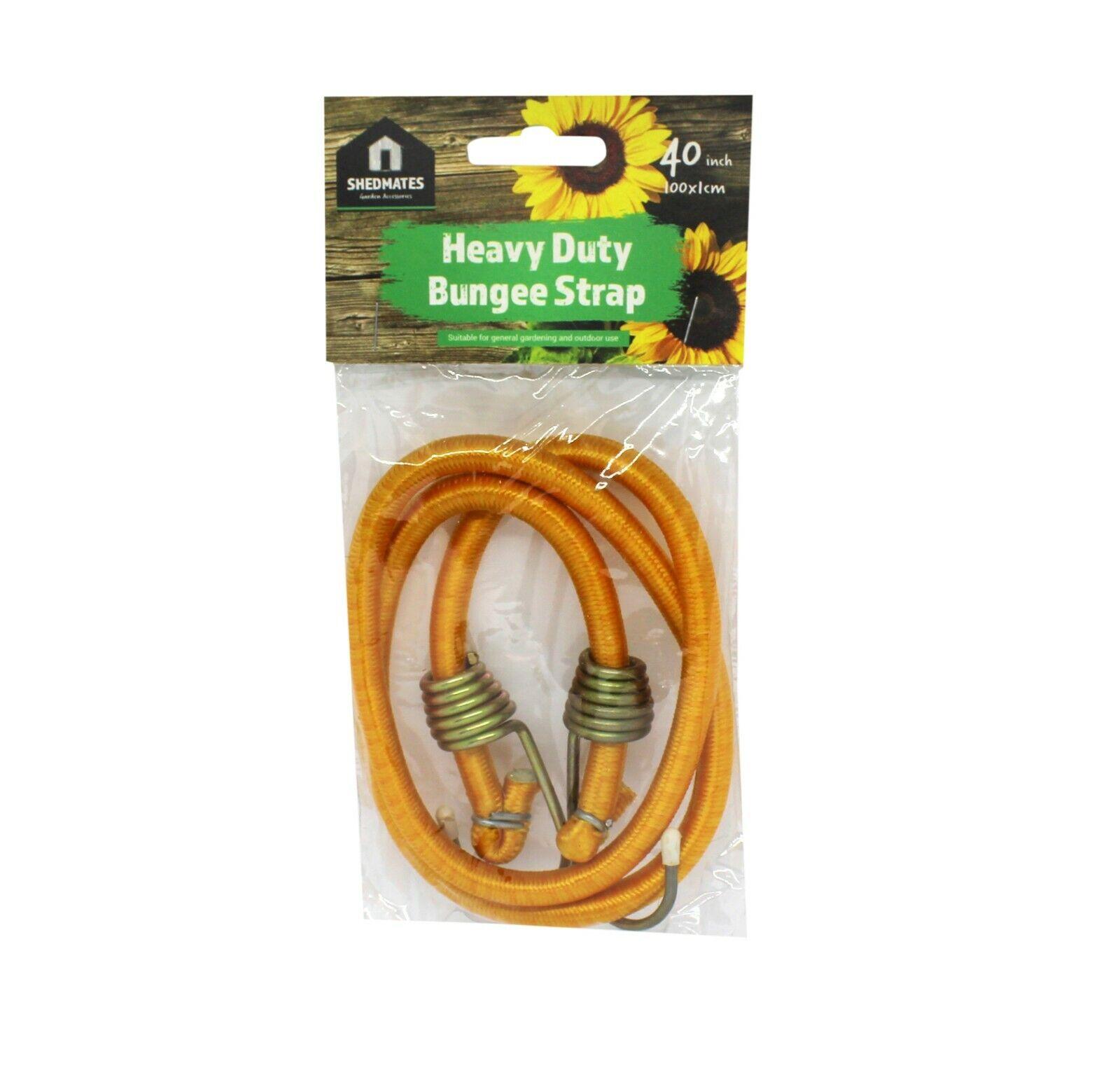 "2 Kingfisher 40/"" Heavy Duty Bungee sangle extensible cordon avec crochets 10 mm x 1016 mm"