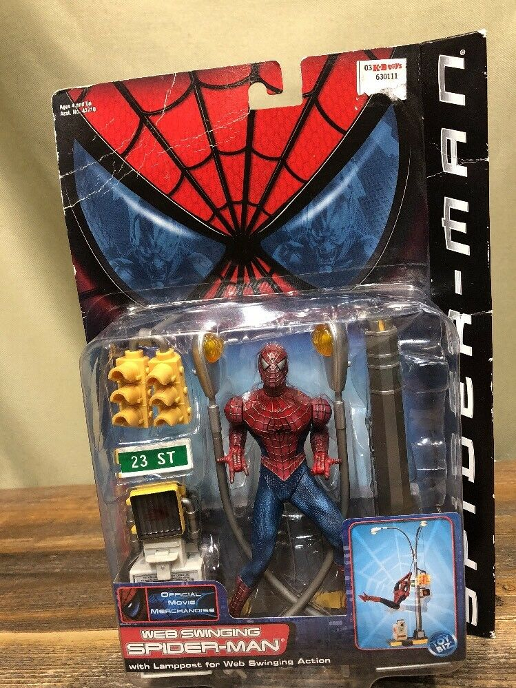2002 Web Swinging Spider-Man Series 2 Lamppost for Web Swinging Action Toy Biz