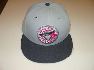 Details about Toronto Blue Jays Custom New Era Cap Hat 7 1/2 59fifty MLB  Baseball Pink Grey