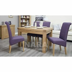 Image Is Loading Alaska Solid Oak Dining Room Furniture Small Extending