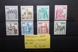 FRANCOBOLLI-GERMANIA-GERMANY-1977-034-CASTELLI-E-FORTEZZE-034-NUOVI-MNH-SET-CAT-X
