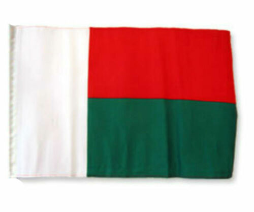 "12x18 12/""x18/"" Madagascar Sleeve Flag Boat Car Garden"