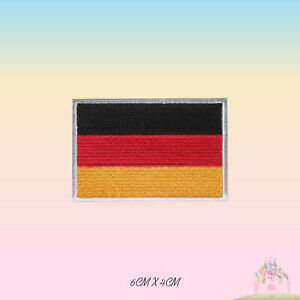 Germany National Flag Embroidered Iron On Patch Sew On Badge