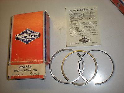 OEM Briggs /& Stratton piston ring set 298175 .010 *Fast Free Shipping*