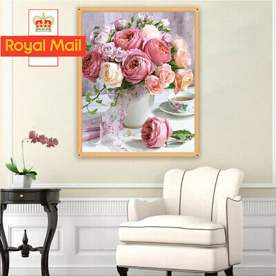 5D DIY Full Drill Diamond Painting Flower Scenery Cross Stitch Embroidery Kit