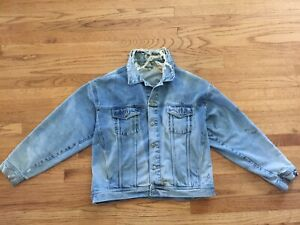 Vintage-Distressed-Denim-Blue-Jean-Jacket-Sz-XL-Beautifully-Worn-Thrashed-Punk