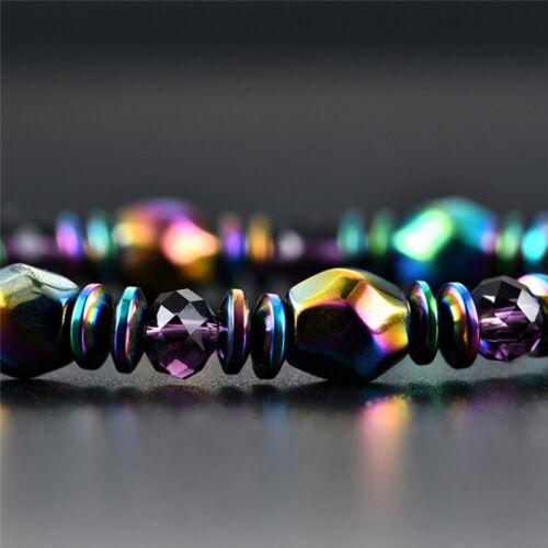 Perte de Poids Multicolore Magnétique Bracelet Perles Hématite pierre pour healtes