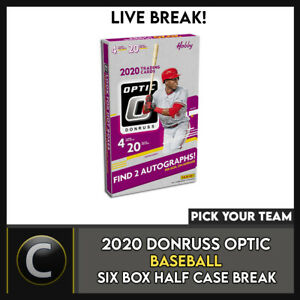 2020 DONRUSS OPTIC BASEBALL 6 BOX (HALF CASE) BREAK #A882 - PICK YOUR TEAM