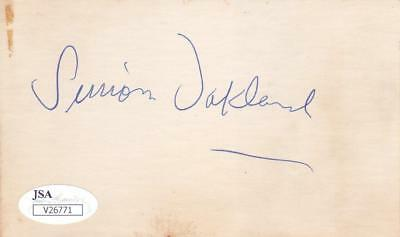 Autographs-original Simon Oakland Signed 3x5 Index Card Jsa V26771 Fine Workmanship Cards & Papers