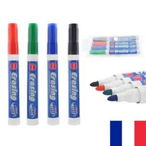 4-Feutres-Marqueurs-Effacables-pour-Tableau-Blanc-Whiteboard-Velleda-4-Couleurs