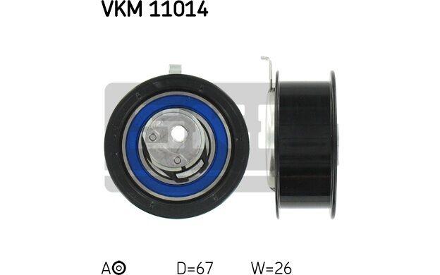SKF Polea tensora (correa dentada) SEAT TOLEDO AUDI A4 VOLKSWAGEN VKM 11014
