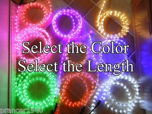 Cool white or choose color led rope lights up to 150 feet image is loading cool white or choose color led rope lights aloadofball Choice Image