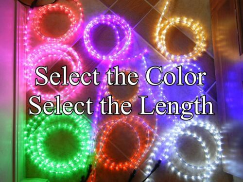 Cool White or Choose Color LED Rope Lights - Up to 150 feet - Lighting 3/8in