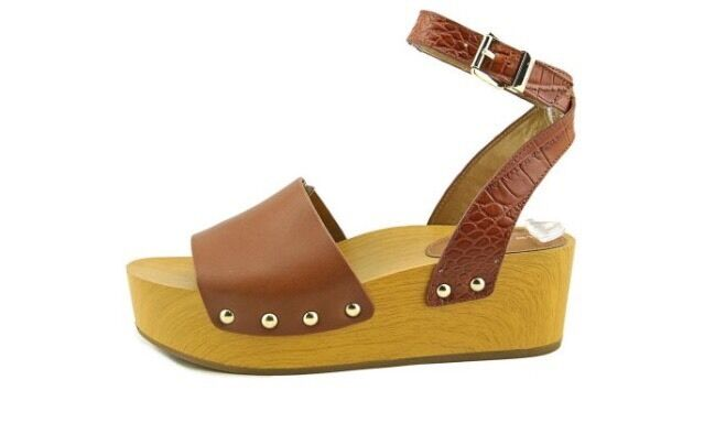 Sam Edelman Brynn Women Platform Sandal Saddle Leather B5143M2200
