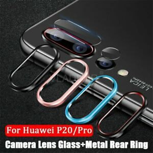 Tempered-Glass-Metal-Protection-Ring-For-Huawei-P30-P20-Honor-20-20i-Nova-5