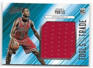 2015-16-Absolute-TOTT-BOBBY-PORTIS-JUMBO-JERSEY-RC-Rookie-149-Chicago-Bulls