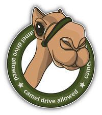 "Camel Drive Allowed Car Bumper Sticker Decal 4"" x 5"""