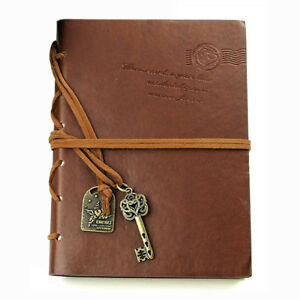Classic Retro Leather Bound Blank Pages Journal Diary Notepad Notebook Coff H9X1 4894462753811