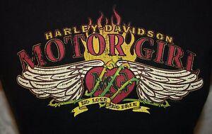 Harley-Davidson-Motor-Motorrad-Maedchen-T-Shirt-M-Greenville-SC-Damen-MG-HD
