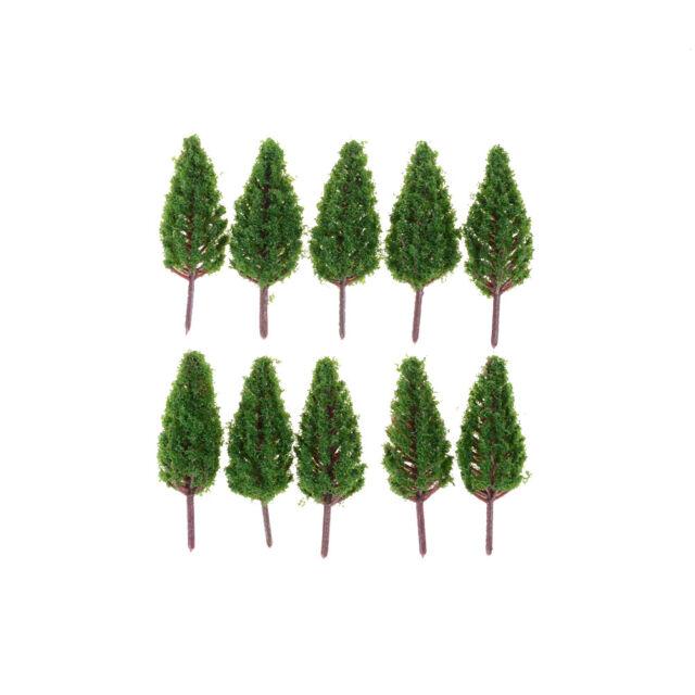 10pcs/Set 68mm Plastic Model Trees For Park Street  landscape Scene Scenery WA