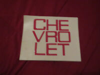 1981 – 1986 Chevrolet Truck Fleetside Tailgate Letters Decals Set Red