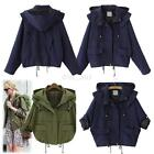 Women's Korean Hooded Coat Warm Hoodie Parka Overcoat Long Zipper Jacket Outwear