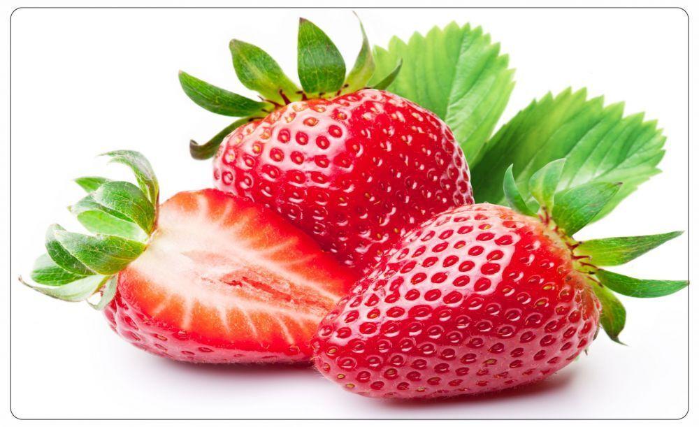 Erdbeeren Obst Frucht Strawberry Wandtattoo Wandsticker Wandaufkleber R0424