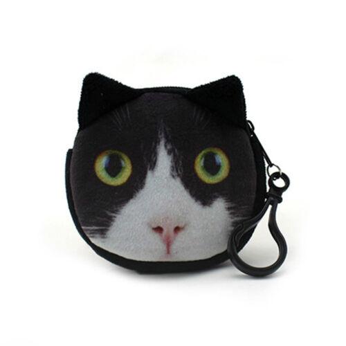 Portable Women Girls Mini Coin Plush Change Purse Wallet Clutch Zipper Soft Bags
