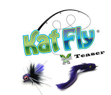 Cat Toy Wand Refill - Purple Kat Fly and Eel Set
