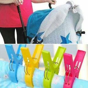 Black, White, Gray Stroller pegs Clips 6Pcs Pram Clips for Holding Blankets muslins Toys Nursing Cover Sun Canopies