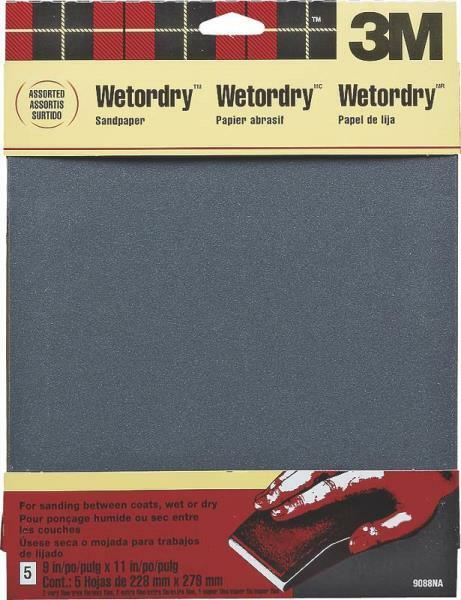 3M Wetordry Sandpaper 5-Sheet 9-Inch by 11-Inch 4 PACK Super Fine 400 Grit