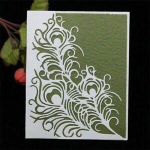Stanzschablone-Feder-Hochzeit-Weihnachten-Geburtstag-Oster-Karte-Album-Deko-DIY
