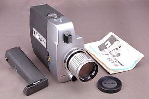 Argus Model 814 Super Eight Camera-Zoom Lens-Handel-Pa<wbr/>perwork-Faux Leather Case