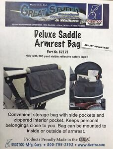 Diestco-Deluxe-Armrest-Saddle-Bag-for-Mobility-Scooters-amp-Wheelchairs-B2121-NEW