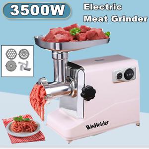 Heavy Duty 3500W Electric Meat Grinder Mincer Sausage Maker Machine w//3 Blade US