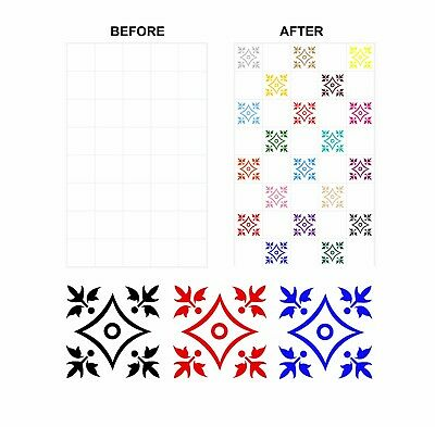 6 Inch Kitchen Bathroom Tiles FP01 Mosaic Floral Stickers Transfers for 150mm