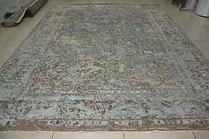 Indian-Hand-Knotted-3x6-Soft-Wool-Art-Silk-Transitional-Carpet-Area-Rug-2-Pcs