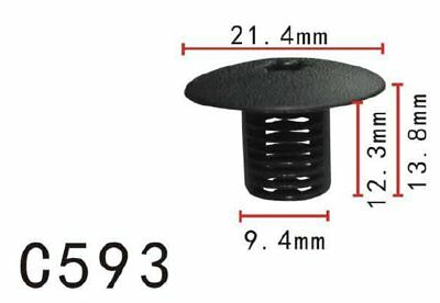 5PCS Fit Honda 91508-S50-003 Nylon Cowl Top Rivet Retainer Clip 17x13x9mm