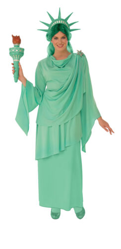 Classic Statue of Liberty Adult Womens Costume Dress Crown NEW