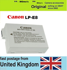 Genuine Original CANON Battery LP-E8 EOS 550D 600D 650D 700D Kiss X4 X5 X6