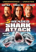 3 Headed Shark Attack Sealed Dvd Danny Trejo Rob Van Dam Syfy