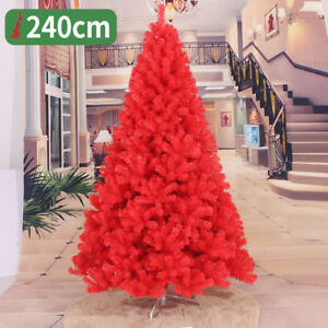 Details About Red Christmas Artificial Tree Decoration Festival Holiday 2 3 4 5 6 7 8 Ft Home