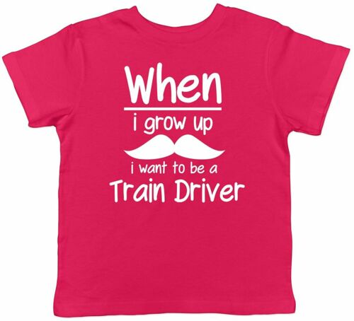 Details about  /When I Grow Up I Want To be a Train Driver Childrens Kids Boys Girls T-Shirt