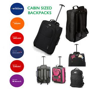 valise roulettes bagage main sac dos accept en cabine easyjet ryanair ebay. Black Bedroom Furniture Sets. Home Design Ideas