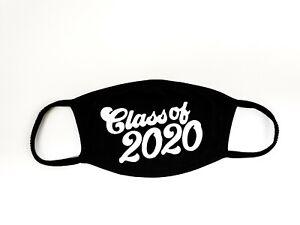 Face-Mask-Soft-Cotton-Unisex-Washable-Reusable-CLASS-OF-2020-BLACK