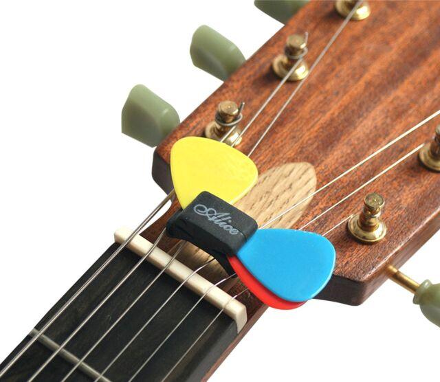 5 x Plectrum Holder Clip Premium Rubber Guitar Pick Wedge Headstock by Alice