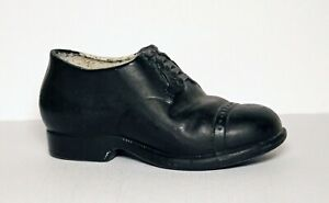 "Vintage 5-1/2"" Black Oxford Shoe Planter, Japan"