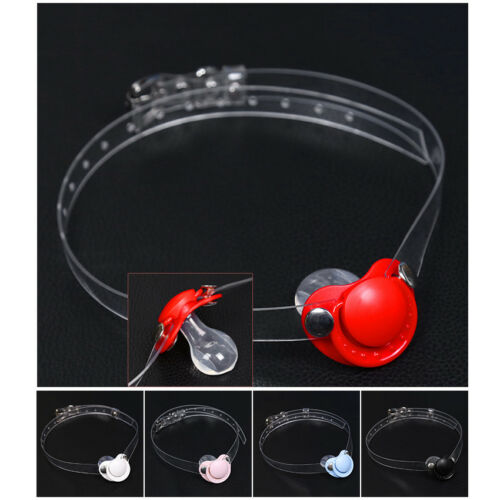 Open Mouth Gag Pacifier Shape Oral Ring Slave Game Fixation Cosplay Restraints