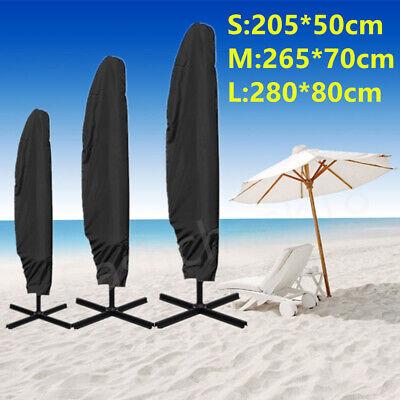 Fornitura 3 Dimensioni Ombrellone Banana Cantilever Copertura Umbrella Patio Giardino Esterni Resistente Alle Intemperie-