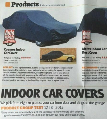 Para adaptarse a Mercedes CLK Transpirable Tela Cubierta De Coche Interior Showroom de Garaje Verde XL